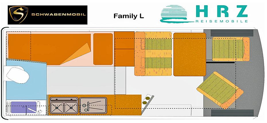 Reisemobil Florida Family L - Grundriss