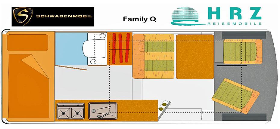 Reisemobil Florida Family Q - Grundriss