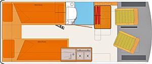 Grundriss: Florida Tangoo Einzelbetten
