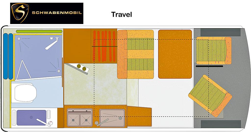 Reisemobil Florida Travel - Grundriss