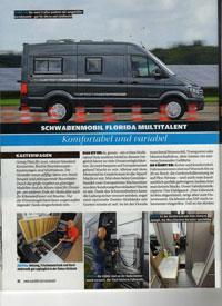 Reisemobil Florida Multitalent - Testbericht von Auto Bild Reisemobil Ausgabe 10 2017