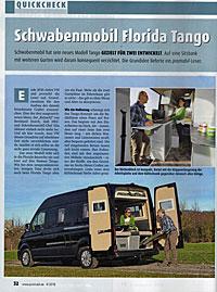 Reisemobil Florida Tango - Testbericht von Promobil Ausgabe 4 April 2018